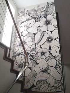 Mi jardín vertical Flower mural wall by MamaJosefa Mi jardín vertical Flower mural wall by MamaJosefa The post Mi jardín vertical Flower mural wall by MamaJosefa appeared first on Tapeten ideen. Flower Mural, Flower Wall, Mural Wall Art, Painted Wall Murals, Painting Murals On Walls, Cool Wall Art, Wall Paintings, Remodeling Mobile Homes, Wall Drawing