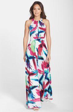 Eliza J Print Halter Maxi Dress available at #Nordstrom