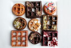 Waffle Donut Desserts Chicago's Waffle Cafe's Wonut Combines a Breakfast Staple and Sugary Treat 100 Unusual Food Combinations