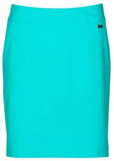 "Need new golf apparel? Greg Norman takes pride in offering women's golf clothing for all shapes and sizes. Buy this ESSENTIALS Cool Mint Greg Norman Ladies ML75 18"" Pull On Stretch Golf Skort today from Lori's Golf Shoppe!"