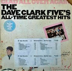 DAVE CLARK FIVE - GLAD ALL OVER AGAIN - EPIC - 2 LP SET WITH TIMING STRIP #BritishInvasion