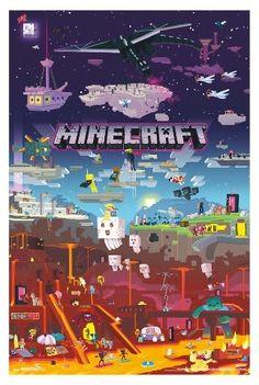 Trends International Minecraft World Poster 34x22
