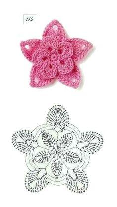 Blume häkeln - crochet flower