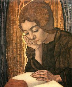 Jeune Valaisanne lisant un livre     L'après-midi charmant     Profil d'une Valaisanne lisant, 1939      Jeune Valaisanne, 1944     Wo...