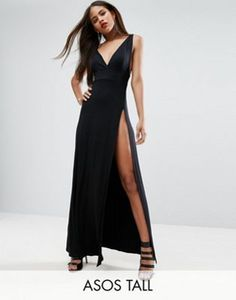 ASOS TALL Super Thigh Split Maxi Dress