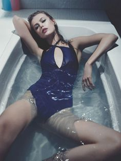 Frida Gustavsson Models Swimwear Looks for Interview by Robbie Fimmano | Fashion Gone Rogue: The Latest in Editorials and Campaigns