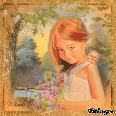 child and spring