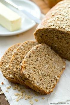 This hearty sandwich bread is chock-full of all kinds of nutritious grains---it's soft texture and homemade flavor is 10x better than the bakery! @WholeHeavenly by viola