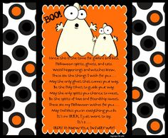 Prepared NOT Scared!: Halloween Poem for Visiting and Home Teachers!