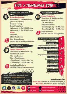 #Lomba #LKTI #Video #Desain #Poster #UniversitasBrawijaya #Malang DSE X Temilnas 2018 LKTI, Lomba Video, dan Lomba Poster  DEADLINE: 11 Januari 2018  http://infosayembara.com/info-lomba.php?judul=dse-x-temilnas-2018-lkti-lomba-video-dan-lomba-poster