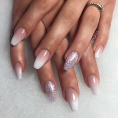 Image result for ombre solar nails coffin shape