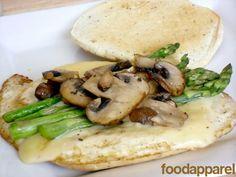 Asparagus, Mushroom, and Swiss Egg White Sandwich (Einstein Copycat)