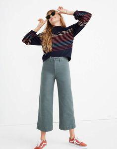 Tall Emmett Wide-Leg Crop Pants in architect green image 1 Covet Fashion, Work Fashion, Fashion Pants, Fashion Outfits, Fashion 2020, Cropped Pants, Wide Leg Pants, Pants Outfit, Women's Pants