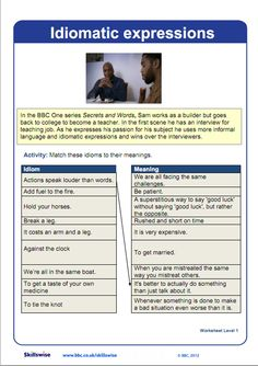 Idioms and expressions with images to share -        Repinned by Chesapeake College Adult Ed. We offer free classes on the Eastern Shore of MD to help you earn your GED - H.S. Diploma or Learn English (ESL) .   For GED classes contact Danielle Thomas 410-829-6043 dthomas@chesapeake.edu  For ESL classes contact Karen Luceti - 410-443-1163  Kluceti@chesapeake.edu .  www.chesapeake.edu
