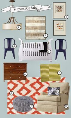 6th Street Design School : A Room for Baby & A Room for Mom + Home Decorators Giveaway