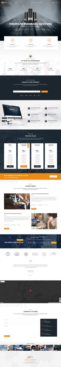 HeroHost is fabulous 6 in 1 Bootstrap HTML #Template for a web #hosting…