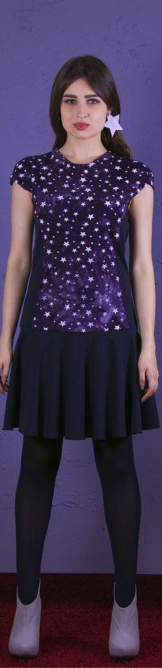 www.nara.com.de DRESSES KLEIDER Designermode, Designerstück, Stern, bedruckt, young fashion,NARA, beliebt,