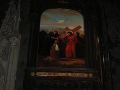 Mirepoix, Francia Cattedrale di Saint Maurice, Via Crucis Foto di Renato Bordonali