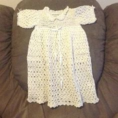 Double crochet christening gown.   I just finished this antique vintage look baby dress.