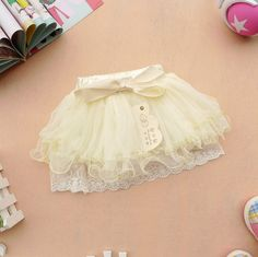 18M,24M,2Y,3Y,4Y mini skirt girl dress girl clothes spring fall summe dress white,green,pink dress. $23.99, via Etsy.
