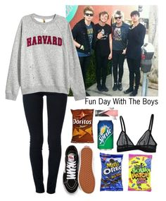 """""""Fun Day With The Boys"""" by xxkatiehemmingsxx ❤ liked on Polyvore featuring STELLA McCARTNEY, Vans and Monki"""