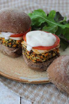 Hamburguer de quinua e cenoura