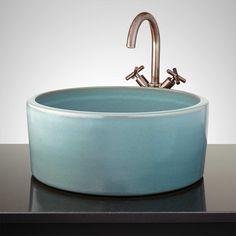 Hyecho Hand-Glazed Vessel Sink - Robin's Egg