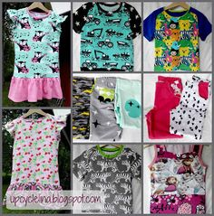 Upcyclelina: New clothes for kids New Outfits, Kids Outfits, Upcycle, Pouch, Sewing, Fabric, Blog, Crafts, Clothes