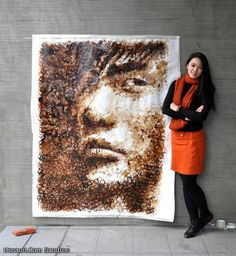 Coffee Stain Portrait by Hong Yi DeMilked