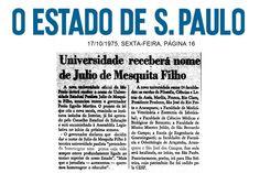 Universidade receberá nome de Júlio de Mesquita Filho