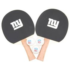New York Giants NFL Ping Pong Paddle and Ball Set (2 Paddles and 3 Balls)