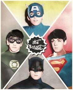 The beatles pop art postcard by Steven Lynch, via Behance