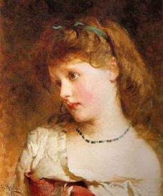 George Elgar Hicks, Little Dreamer, Date unknown.