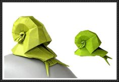 Origami Snail Free Diagram Download - http://www.papercraftsquare.com/origami-snail-free-diagram-download.html