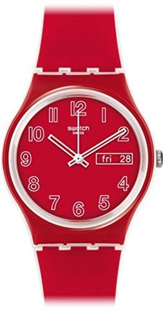Swatch Poppy Field Quartz Plastic and Silicone Casual Watch ColorRed Model GW705 ** Details can be found by clicking on the image.Note:It is affiliate link to Amazon.
