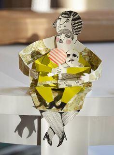 Paper people illustrations by designer Malin Koort.