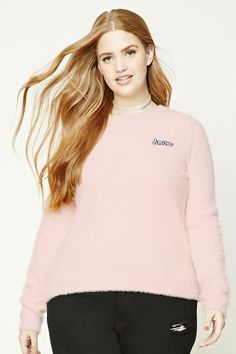Plus Size Fuzzy Amore Sweater