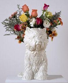 Jeff Koons, Puppy, 1998- White glazed porcelain vase.  © Jeff Koons, Gagosian Gallery  https://www.artsy.net/artwork/jeff-koons-puppy-4