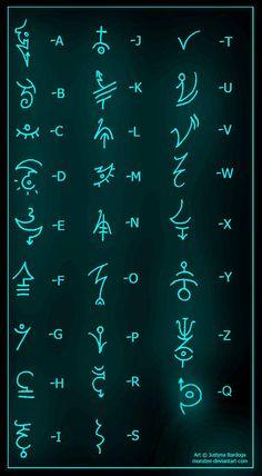 Alphabet Gluten Free Recipes z cucina gluten free Alphabet Code, Sign Language Alphabet, Alphabet Symbols, Rune Symbols, Alchemy Symbols, Magic Symbols, Symbols And Meanings, Ancient Alphabets, Ancient Symbols