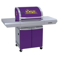 ECU - East Carolina University Pirates - first-ever high-end gas grill designed specifically for sports fans in team colors with logo