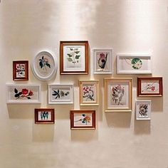 White Golden Photo Wall Frame Collection Set of 13 – USD $ 109.99