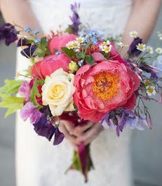 9. Floral Arrangement-Multi Colored Pastel Wedding Bouquet #modcloth #wedding