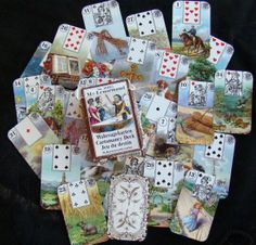 In a way, they are formalized Gypsy Cards usually with a playing card insert except #Lenormand usually runs to a strict pattern