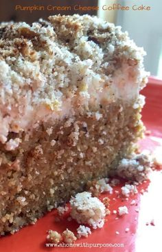 Pumpkin Cream Cheese Coffee Cake- THM S, Grain free, Gluten free and low carb!  YUM.