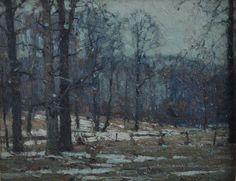 John F. Carlson Salmagundi Club Thumb Box Oil Painting c. 1920, Shop Rubylane.com