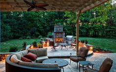 Backyard Idea - love the seating
