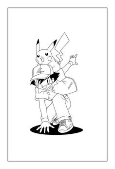 Coloring Sheets For Kids, Cool Coloring Pages, Adult Coloring Pages, Coloring Books, Pikachu Coloring Page, Pokemon Coloring Pages, List Of Characters, Ash Pokemon, Anime