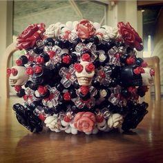 Sugar skull. #kandi #rave