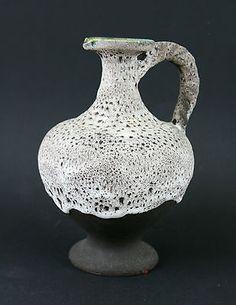 "Vintage Fohr Keramik ""Fat Lava"" Krug Vase West Germany 23 cm  | eBay"