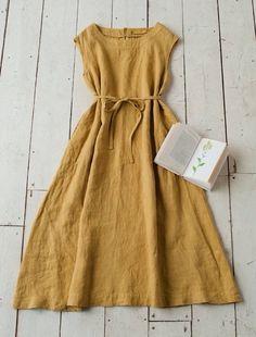 Vestido mostaza